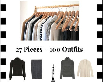The French Minimalist Capsule Wardrobe: Winter 2017 Collection