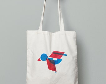 Funny bag of birds Tote