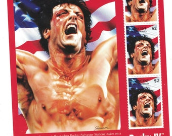 Rocky IV postage stamp sheet boxing  Rocky Balboa