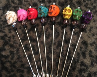 Rockabilly Skull Boutineer Tie Pin