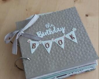 Birthday Anniversary  Reminder  Book . Birthday Reminder Journal, Birthday Calendar Gift Idea