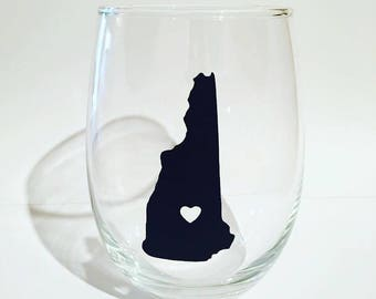 Where the heart is, home is where the heart is custom stemless wine glass, custom wine glass, home is where the heart is