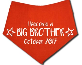 Baby Announcement Dog Bandana, Big Brother Dog Bandana, Big Sister Dog Bandana, Personalized Dog Bandana, Big Brother Bandana