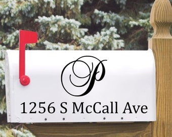 Personalized Mailbox Monogram & Address Decal - custom house number, vinyl decal, home address decoration, mailbox vinyl
