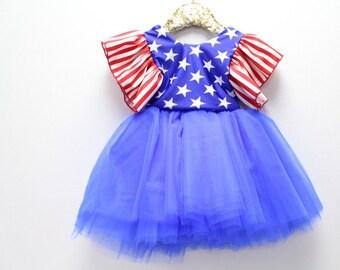 Patriotic Princess made in the USA Tutu Dress