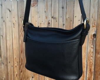 SALE Vintage Coach Worth Bag / Black Leather / Style 4143 / Coach Stye Name WORTH / Excellent Condition