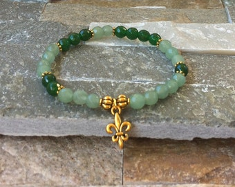 Lily bracelet Aventurine jade