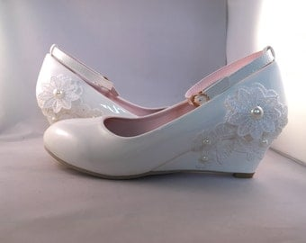 Maple (bridal wedding wedge heel shoes)