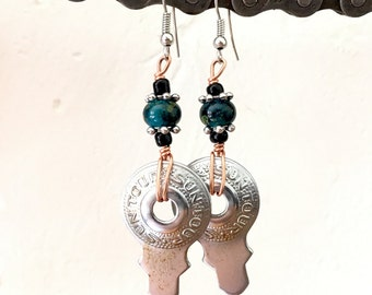 Recycled Sun Tour Washer Earrings