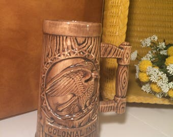 SALE 20% OFF Colonial Inn Mug, 1970's ceramic mug.