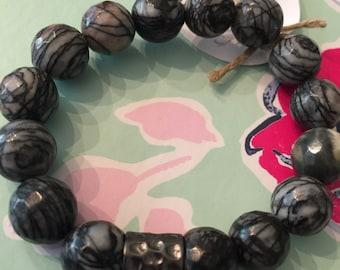 Black multi beaded bracelet