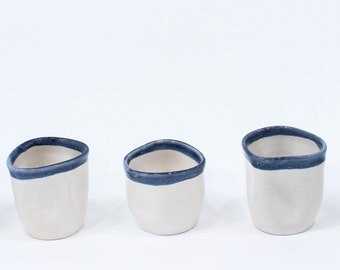 Blue and White Ceramic Handmade Cup