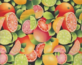 Timeless Treasures Fabric, Fresh Citrus Fruit, Fruit-C8929, 1/2 yard