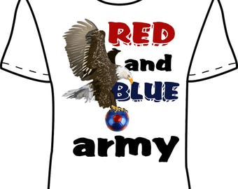 Crystal Palace 'Red and Blue Army' T-Shirt Design 1 *EXCLUSIVE DESIGN*