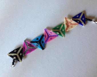 Colorful Triangles Bracelet