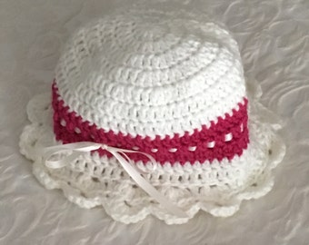 Handmade crocheted childs hat.