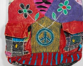 Rising Int'l Boho Shoulder Sling Purse Hippie Patchwork Messenger Bag    (937)
