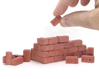1:12 Mini Red Bricks - 50 Pack