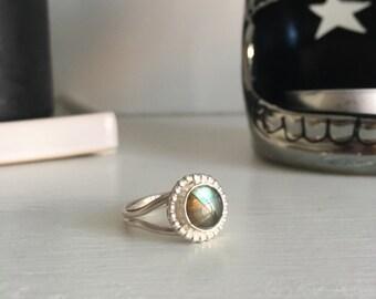Labradorite ring//one-off ring