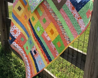 Squares and strips Quilt