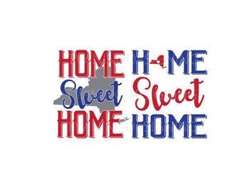 Home Sweet Home New York pride SVG PNG DXF digital file