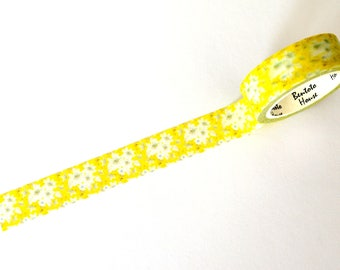 Yellow Floral Washi Tape 15mm