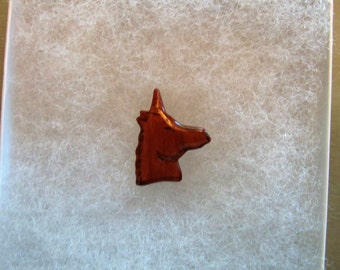 Unicorn (version 2) Jewelry Pin - handcarved and handpainted