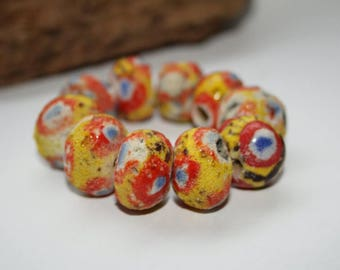 Kiffa beads, Republic of Mauritania, African of beads, 17 mm, bead mix