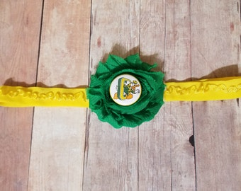 university of Oregon headband-Oregon headband-oregon ducks for baby girl-Ducks headband-Oregon headband for infant-Oregon for toddler