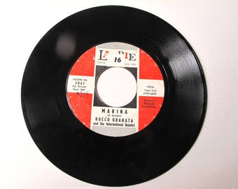 Marina by Rocco Granata (B Side) A Side Manuela, 45 RPM, Vinyl Record, Vintage 1959