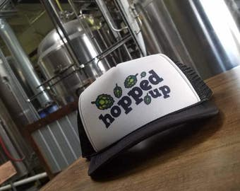 Craft Beer Trucker Cap Hopped Up Beer Hat