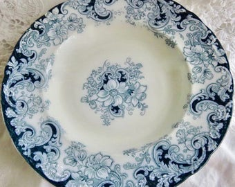 Alfred Meakin Ormonde Antique Flow Blue Soup Bowl