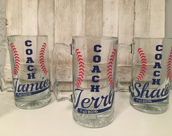 Custom Coach Mugs, Custom Sports Mugs, Coach gifts for baseball, Coach gifts, presents for coaches, gifts for coaches, appreciation day