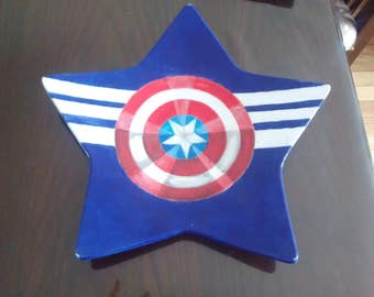 Captain America Star Dinner Plate