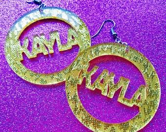 Custom Name Earrings Gold Bling