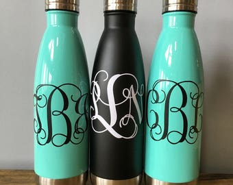 Personalized Monogram Stainless Steel Water Bottle