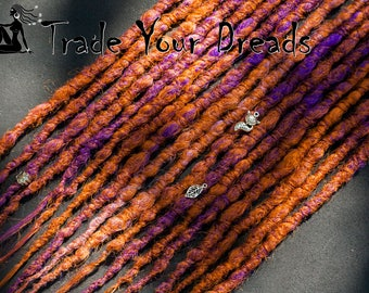 Choice of colors! Full Set, Double Ended Synthetic Dreads, Crochet Dreadlocks