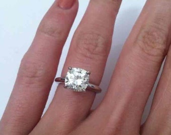 1ct. Cushion Cut Diamond Solitaire