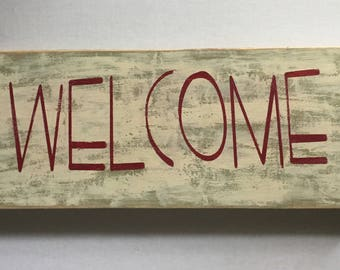 Handmade wooden sign for home