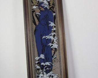 Narrow wall mirror etsy for Tall narrow wall mirrors