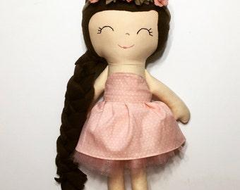 felt crown flower princess