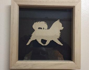 Chihuahua Dog in box frame
