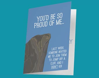 Funny Mother's Day Card / Jump off a Cliff / Funny Mother's Day Ideas / Mother's Day