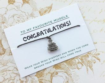 Harry Potter, Harry Potter Wedding Gift, Harry Potter Engagement, Wedding Wish Bracelet Gift, BFF, Friendship Bracelet,