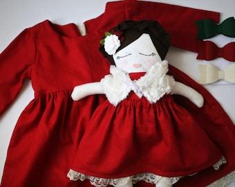 Custom Doll - Rag Doll, Handmade Doll, Cloth Doll, Stuffed Toy, Plush Doll, Gift for Girls, Gift for Her, Custom Made Doll, Look a Like Doll