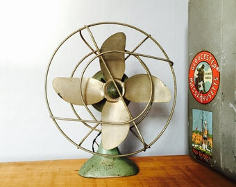 Rare Vintage Moderne Co. Desk Fan