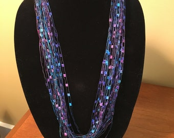 Trellis Ladder ribbon necklace/scarf