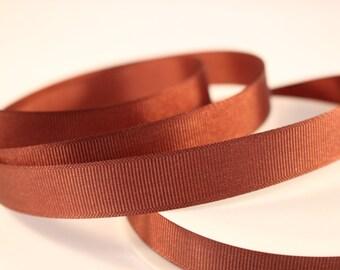 Grosgrain Ribbon, Brown Ribbon, 1 Meter Ribbon, 16mm Ribbon, Craft Ribbon, Sewing Supplies, Etsy Shop Supplies