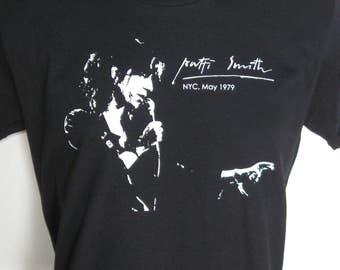 Patti Smith - PUNK ROCK T-Shirt, Hand-Crafted, 100% Ring Spun Cotton