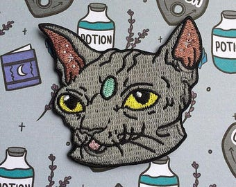 SALE! Mystic Hairless/Sphynx Cat Sew on Patch